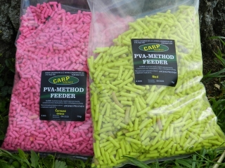 PVA method feeder pelety - colors 1kg